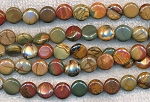 10mm Red Creek Jasper Coin Beads