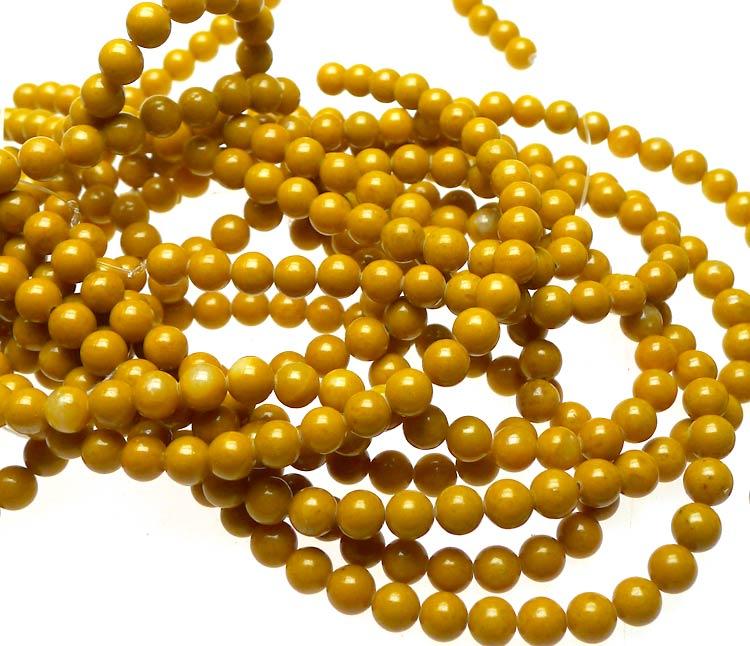 6mm Round Yellow Jasper Beads Natural Gemstone Beads