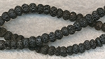 Lava Beads, Rondelle 6mm Natural Volcanic
