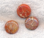 ZSOLDOUT / Sea Sediment Jasper Beads, Coral Coin 20mm (1)