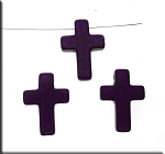 25mm Purple Magnesite Cross Beads