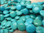 14mm Turquoise Magnesite Coin Beads