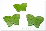 Butterfly Bead Pendants, Green Turquoise 40x30mm