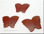 Butterfly Bead Pendants, Brown 40x30mm