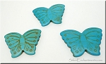 Butterfly Bead Pendants, Turquoise 40x30mm