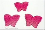 Butterfly Bead Pendants, Pink 40x30mm
