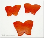 Butterfly Bead Pendants, Orange 40x30mm
