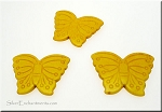 Butterfly Bead Pendants, Yellow 40x30mm