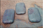 45x30mm Denim Magnesite Bead Pendant Rectangle