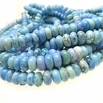 ZSOLDOUT - Magnesite Beads, Light Blue Turquoise Rondelle 10mm