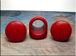 ZSOLDOUT / Stone Ring Blank, Red Magnesite, 30mm Face, Size 12