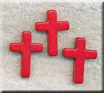 Cross Beads, Red 22x30mm