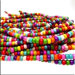 Magnesite Beads, Multicolor Rondelle 6mm