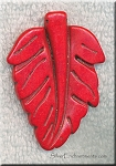 Red Magnesite Carved Large Leaf Pendants