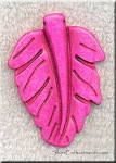 Pink Magnesite Carved Large Leaf Pendant
