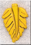 Yellow Magnesite Carved Large Leaf Pendants