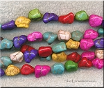 Magnesite Nugget Beads Mixed Colors avg 14x10x9mm