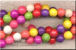 10mm Round Multicolor Magnesite Beads