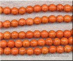 ZSOLDOUT - Magnesite Beads, Orange Round 10mm