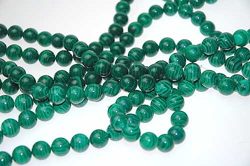 12mm Round Malachite Beads