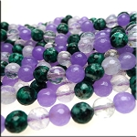 ZSOLDOUT / Gemstone Beads, Mixed Round 8mm Quartz Jade Jasper