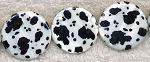 Mother of Pearl Beads, Coin Black and White Spotted 30mm
