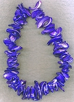 Mother of Pearl Beads, Freeform Purple