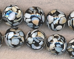 20mm Round Mosaic Mother of Pearl Beads