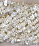 Mother of Pearl Beads, White Chips
