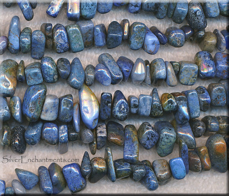Dumortierite Chips-Nuggets Beads