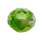 SOLDOUT - Peridot Green AB Faceted European Type Large Hole Bead
