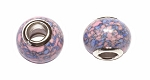 ZSOLDOUT / Gemstone Large Hole Beads, Multicolor Pink-Purple Magnesite Big Hole Beads (10)