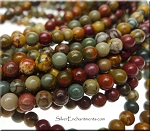 ZSOLDOUT - Red Creek Jasper Beads, Round 4mm