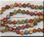 ZSOLDOUT - Red Creek Jasper Beads, Diamond 9mm