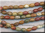 ZSOLDOUT - Red Creek Jasper Beads, Barrel 10x8mm Rice