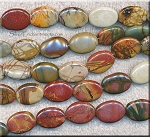 ZSOLDOUT - Red Creek Jasper Beads, Oval 18x13mm