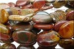 25x18mm Red Creek Jasper Oval Beads