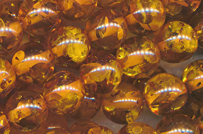 SOLDOUT - 16mm Round Golden Amber Beads