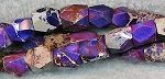 Faceted Purple Sea Sediment Jasper Nugget Beads