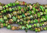 ZSOLDOUT / Sea Sediment Jasper Beads, Green Chips Pebbles Nuggets
