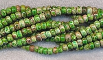Sea Sediment Jasper Beads, Green Rondelle 6mm