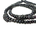 Sea Sediment Jasper Beads, Black Rondelle 6mm