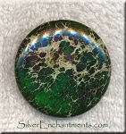 Sea Sediment Jasper Beads, Green Coin 40mm Large