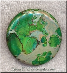 ZSOLD - Sea Sediment Jasper Bead, Green Coin 45mm Large