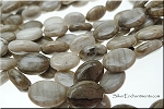 14x10mm Silver Leaf Jasper Oval Beads