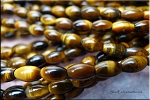 8x5mm Tiger Eye Rice Beads