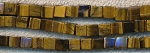 6mm Tiger Eye Cube Beads