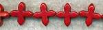 ZSOLDOUT - Magnesite Beads, Cross Red 20mm Pinwheel