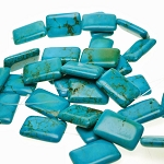Turquoise Beads, Rectangle 30x20mm Stabilized