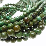 8mm Round Green Turquoise Beads Stabilized